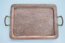 LG ANTIQUE ART &CRAFT MISSION HAMMERED HEAVY GAUGE SERVING TRAY RUSSIAN HALLMARK