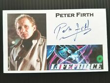 """LIFEFORCE"" PETER FIRTH ""COL. COLIN CAINE"" AUTOGRAPHED 3X5 INDEX CARD"