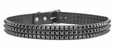 Black Studded Leather Belt Punk, Metal,Thrash, Sid Vicious UK Style By Funk Plus