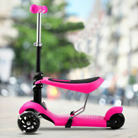 3 LED Wheels Kick Kids Child Toddlers Scooter Adjustable Height For Boy Girls