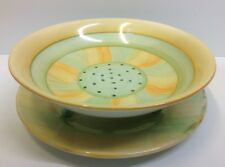 Shelley Harmony Pattern Salad Drainer & Underplate.