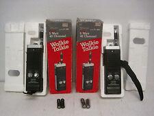 Lot of 2 REALISTIC TRC-217 Walkie Talkies 40 Channel 5 Watt w/Box-For Parts