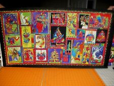 "Gorgeous ~ Laurel Burch Holiday Celebrations Quilt Fabric Panel ~ 23"" x 44  Rare"