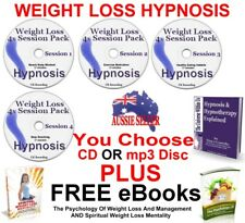4x WEIGHT LOSS HYPNOSIS SESSIONS WEIGHTLOSS SET AID HYPNOTHERAPY DIET CD or mp3