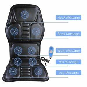 Full Body Massager Back Seat Cushion Shiatsu Chair Massage Pad Car 9 Functions