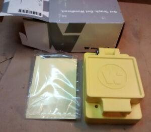 Woodhead 6902 / Molex 1301550017 Weatherproof Receptacle Cover C Size, Yellow
