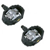 SHIMANO M424 PD-M424 SPD CLIPLESS MTB FREERIDE BIKE BICYCLE CYCLE PEDALS