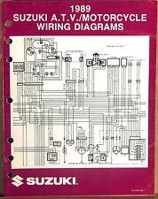 "Suzuki Service Manual Motorcycle & Atv Wiring Diagrams 1989 ""K"" Models"