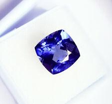 Loose Gemstone Natural Tanzanite 10.57 Ct Certified Cushion Shape