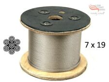 316 Marine Stainless Steel Wire Rope Cable Decking Balustrade Rigging 7x19 3.2mm
