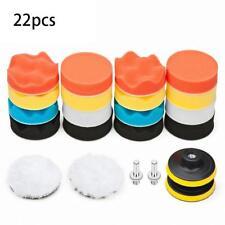 22 PCS Car Foam Drill Polishing Pad Kit High Quality 3 Inch Buffing Pads US