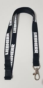 "LIEBHERR BLACK LANYARD 16"" NECK STRAP CRANE EXCAVATOR Emblem Car Moto"