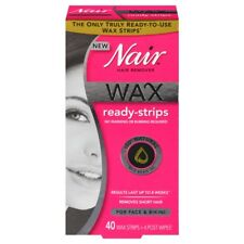 Nair Wax Ready-Strips Hair Remover for Face and Bikini - 40 count