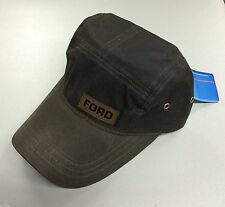 BRAND NEW FORD LEATHER PATCH FIDEL ADJUSTABLE HAT/CAP! F150 MUSTANG!