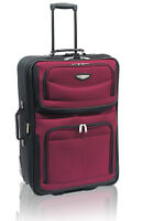 "Travel Select Red Amsterdam 25"" Expandable Rolling Luggage Wheeled Suitcase Bag"