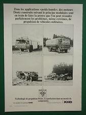 7/1979 PUB DEUTZ KHD MOTEURS CAMIONS MILITAIRES MILITARY TRUCKS / NOKISBURG AD