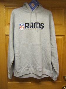 NFL Los Angeles Rams hoody Mens Medium Reebok New w/ tags Free Shipping