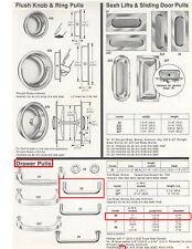 "4/"" C-C HARRIS #104-GRAY PLASTIC CABINET//DRAWER WIRE PULL 5//16/"" DIAMETER WIRE"