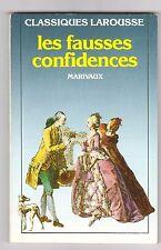Fausses Confidences - Pierre De Marivaux. Larousse Classiques .+dossier+bio.....