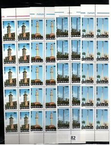 // 10X ROMANIA - MNH - ARCHITECTURE - LIGHTHOUSES - 1998