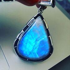 Stunning Moonstone Sterling Silver Pear Shape Pendant