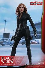 HOT TOYS 1/6 MARVEL CAPTAIN AMERICA CIVIL WAR MMS365 BLACK WIDOW ACTION FIGURE