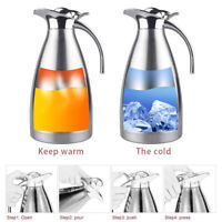 2L Stainless Steel Vacuum Insulated Thermal Tea Milk Coffee Pot Water Pitcher US