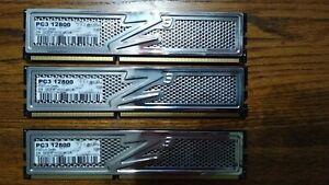 OCZ Platinum 6GB (3 x 2GB) DRAM DDR3 1600 (PC3 12800)OCZ3P1600LV6GK