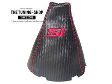 For Honda Civic Si Sedan Coupe FA FG Acura CSX Shift Boot Carbon Look Leather