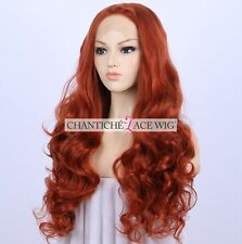 Best Copper Red Lace Front Wigs Wavy Long Lace Front Wig For Women Heat Friendly