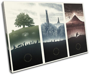 Lord of the Rings Movie Greats SINGLE CANVAS WALL ART Picture Print
