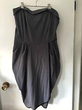 Torrid USA Designer Strapless Dress With Wrap Skirt Grey Colour New Size 20 New