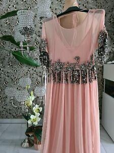 SEMI COUTURE chices Kleid Abendkleid Partykleid mit Pailletten Gr. 36/38