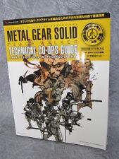 METAL GEAR SOLID Peace Walker Technical Co-ops Guide w/DVD Book *