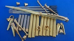 Woodturning Pen Kits x5 Slimline FANCY Gold/Chrome/Gun Metal/Silver/Copper/Black