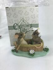 "Fitz And Floyd Charming Tails ""Rowboat Romance� Mice Figurine (#83/801) 4.5�L"
