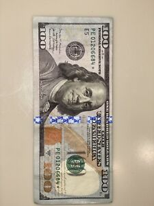 RARE $100 Hundred Dollar Bill With Star Note 2009 A