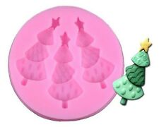 Christmas Tree with Star on Top Silicone Mold for Fondant, Chocolate, Crafts