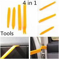4pcs/Set Auto Car Door Trim Panel Removal Pry Open Clip Lights/Radio Tools Kit