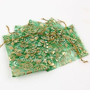 50 100 Organza Gift Bags Jewelry Christmas Packing Pouches Wedding Party Favour
