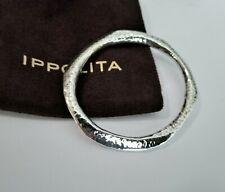 IPPOLITA Hammered Sculpted 6mm Sterling Silver Bangle Bracelet - Stunning!