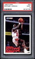 1993 Fleer #28 BASKETBALL Michael Jordan PSA 9  - CHICAGO BULLS HOF