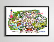 1997 DISNEYLAND PARIS Park Map Brochure POSTER! (various sizes) - High Quality
