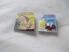 2 WOMEN'S OWN PRINTED MAGAZINES FOR A DOLLS HOUSE