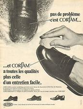 Publicité 1968  CORFAM matière synthétique poromère chaussure Du Pont de Nemours