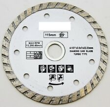 "4-1/2"" inch Turbo Diamond Blade Wet Dry Tile Saw General Concrete Marble Masonry"