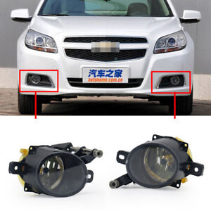 Pair Fog Light For 2013-2015 Chevy Malibu 2014-17 SS 2010-16 Cadillac Front Lamp