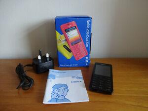 Nokia 206 - Black (Unlocked) Dual Sim Mobile Phone