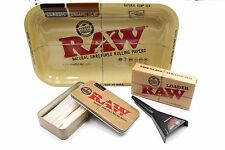 Raw Rolling Tray Bundle 15 Pre Rolled King Size Cones With Raw Cone Loader