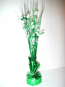 ST PATRICKS DAY FESTIVE TINSEL TREE/PAPER WEIGHT/BALLOON WEIGHT
